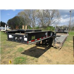 2006 WITZCO RG60 DETACHABLE LOWBOY TRAILER, VIN/SN:1W8A11G4465000510 - TRI-AXLE, 60 TON, NGB, 15' WE