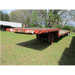 1985 TRANSCRAFT STEP DECK TRAILER, VIN/SN:1TTE48208F1026763 - 48', T/A, SPREAD AXLE, 255/70R22.5 TIR