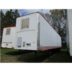 1991 UTILITY OFFICE TRAILER, VIN/SN:1UYUS2486MM548001 - T/A, 53' LENGTH, REAR FOLD DOWN RAMP W/ STEP