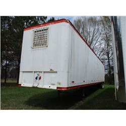 1990 QUAY OFFICE TRAILER, VIN/SN:1PT02DAH0L9003700 - T/A, 53' LENGTH, REAR FOLD DOWN RAMPS W/STEPS,