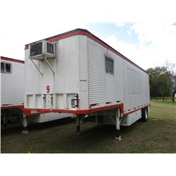 1973 KENTUCKY OFFICE TRAILER, VIN/SN:46962 - S/A, 32' LENGTH, AC UNIT, BARN DOOR, 11R22.5 TIRES (UTI