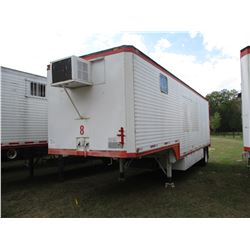 1972 DORSEY OFFICE TRAILER, VIN/SN:97119 - 32' LENGTH, AC UNIT, BARN DOOR, 11R22.5 TIRES (UTILITY CO