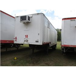 1971 DORSEY OFFICE TRAILER, VIN/SN:91425 - 32' LENGTH, AC UNIT, BARN DOOR, 11R22.5 TIRES (UTILITY CO