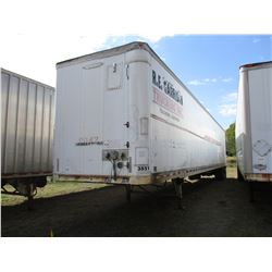 1996 TRAILMOBILE VAN TRAILER, VIN/SN:1PT01JAH3T6002592 - T/A, 53'., 275/80R22.5 TIRES