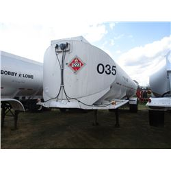 1974 FRUEHAUF TANK TRAILER, VIN/SN:656101 - T/A, 11R24.5 TIRES (BILL OF SALE ONLY)