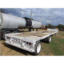 "STEPDECK TRAILER, - T/A, SPREAD AXLE, 50' LENGTH, 104"" WIDE, 255/70R22.5 TIRES"
