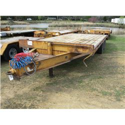 1998 FED YELLOW P2322DT-A TAG TRAILER, VIN/SN:4MNDP2320V0000347 - T/A, 12 TON, 8'X18' DECK, 5' BEAVE