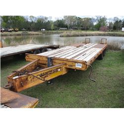 """1994 MCELRATH 82510T-A TAG TRAILER, VIN/SN:1M9FE2523R1284590 - 25', 96"""" WIDTH, DOVE TAIL, RAMPS, AIR"""