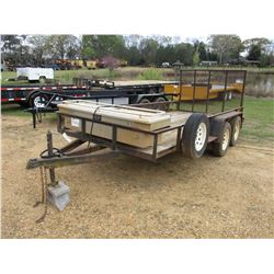 2006 HOMEMADE UTLITY TRAILER, VIN/SN:AL06HM00600024606 - 6' X 14' DECK, FOLD DOWN GATE, 205/75R15 TI