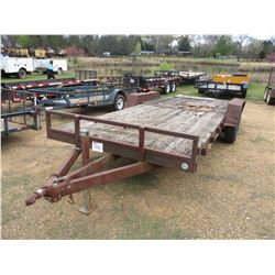 UTILITY TRAILER, - T/A, 7' X 20' DECK, 235/80R16 TIRES
