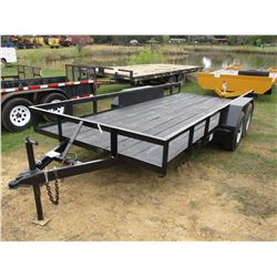 TAG TRAILER, T/A, 6.5' X 16', 225/75R15 TIRES