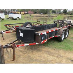 UTILITY TRAILER, - S/A, 4' X 14' DECK, FOLD DOWN GATE, 225/70R15 TIRES (STATE OWNED)
