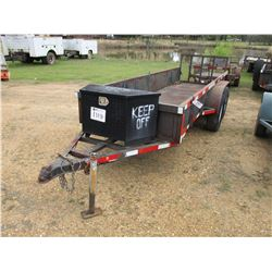 UTILITY TRAILER, - 4' X 14' DECK, FOLD DOWN GATE, 225/70R15 TIRES (STATE OWNED)
