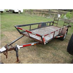"UTILITY TRAILER, VIN/SN:3549040 - 4'2"" X 12'2"" DECK, FOLD DECK GATE, 175/80D13 TIRES (STATE OWNED)"