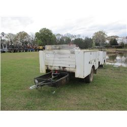 SHOPBUILT TRAILER W/SERVICE BODY, - 255/70R19.5 TIRES