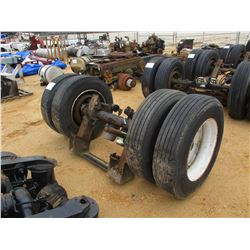 TRAILER AXLE W/TANDEM WHEEL/TIRES