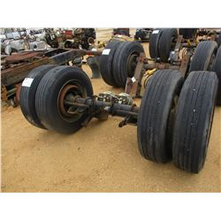 TRAILER AXLE W/TANDEM WHEEL/ TIRES