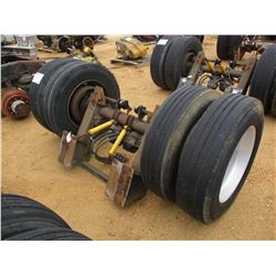 TRAILER AXLE W/TANDEM ALUMINUM WHEEL