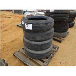 (4) 255/70R22.5 TIRES