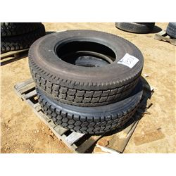 (2) 11R22.5 TIRES
