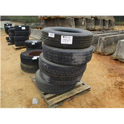 (5) 295/75R22.5 TIRES