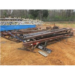 (4) ROLL OFF TRUCK FRAMES & 3 HYD TANKS W/PUMPS