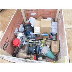 1- BOX MISC SIZES AND TYPES OF VALVES (UTLITY COMPANY OWNED)