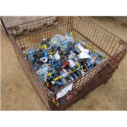 (1) WIRE CAGE, MISC SIZE AND TYPE VALVES (UTILITY COMPANY OWNED)