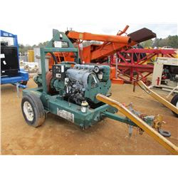 "PIONEER WATER PUMP, - 6"", DEUTZ DIESEL ENGINE, TRAILER MOUNTED, METER READING 2,539 HOURS"