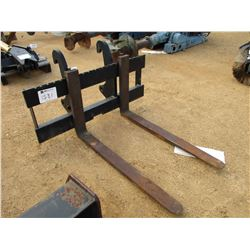 (1) SET - 4' FORKS FOR CAT BACKHOE (COUNTY OWNED)