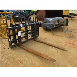 JCB FORK ATTACHMENT, - 8,000# CAPACITY, SIDE SLIDE FORK, FIT WHEEL LOADER