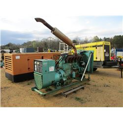 ONAN 115 ELECTRIC GENERATOR SET, - WA-15R/13G W/WAUKESHA NATURAL GAS ENGINE, SKID MOUNTED