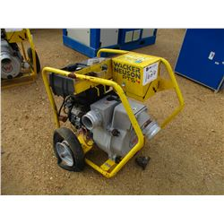 "2013 WACKER NEUSON PTS 4"" WATER PUMP, - VANGUARD 16HP GAS ENGINE, ELECT START"