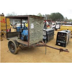 MILLER WELDER, - W/GAS ENGINE MOUNTED ON S/A TRAILER
