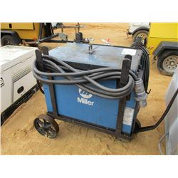 MILLER GOLD STAR 452 ELECT WELDER MTD ON DOLLEY W/WELDING LEADS