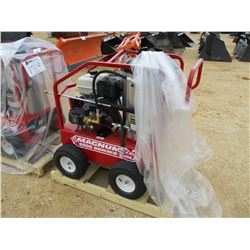 MAGNUM 400 GOLD HOT WATER PRESSURE WASHER, - 15 HP GAS ENGINE, 2 DIESEL BURNER