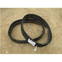"(2) 7"" RUBBER TRACK FIT SKID STEER LOADER"