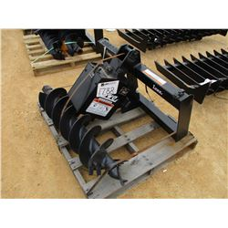 "LOWE AUGER, - W/10"" BIT, FIT SKID STEER LOADER"