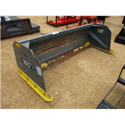 MDS SNOW PUSHER, - 8', FITS SKID STEER LOADER