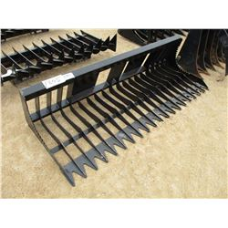 "84"" BRUSH/ROCK RAKE, - FITS SKID STEER LOADER"