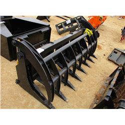 "84"" BRUSH RAKE W/TOP CLAMP, - FITS SKID STEER LOADER"
