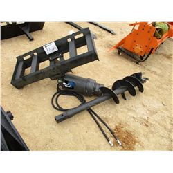 "AUGER W/12"" BIT FIT SKID STEER LOADER"