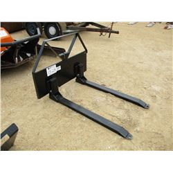 "TITAN 48"" FORK ATTCH, FITS SKID STEER LOADER"