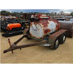 GAS STORAGE TANK, - 12 VOLT PUMP, MOUNTED ON T/A TRAILER (STATE OWNED)