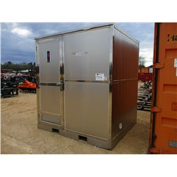PORTABLE RESTROOM, - 6'X7' STAINLESS STEEL BATHROOM SHOWER, TOLIET, SINK, MIRROR (UNUSED)
