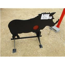 3/8 AR500 STEEL WILD BOAR SHOOTING TARGET WITH HEART