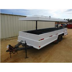 CONTRACTORS TRAILER, VIN/SN:85604 - 6' X 18', T/A, ELECTRIC TOP, 8-14.5 TIRES