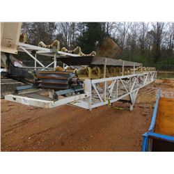 """36"""" X 80' CONVEYOR (2 SECTIONS) W/ (2) 42"""" ROLLERS"""