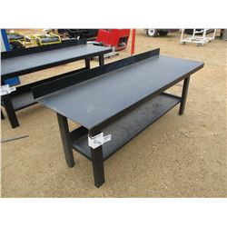 "90"" METAL TABLE W/BOTTOM SHELF"