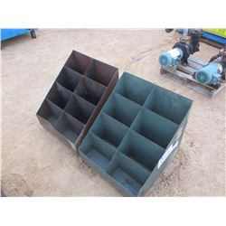 (2) METAL STORAGE BINS